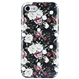 iPhone 7 Case for Girls, iPhone 8 Case Flower, Dimaka Floral Pattern Vintage Case [Floral Cover][High Impact][Hybrid 2 Layers] Case for iPhone 7 and iPhone 8 (Black Peony, iPhone 7 and 8)