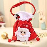 SONG LIN Santa Gift Handbag Christmas Candy Gift Bag Holders Treat Bags with Handle Portable Wedding Baskets (Santa Claus)
