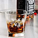 Personalized Initial and Name Libbey Double Rocks, Whisky Old Fashioned Glass