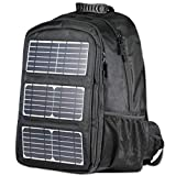 Backpack 48L for Laptops Up to 17-Inch, 10W Solar Panel Charger with USB Output Port, Solar Charger for Power Bank Phone & Other 5V USB-Charging Devices