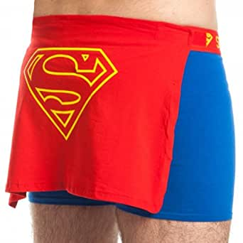 Superman Caped Blue Boxer Briefs, XX-Large
