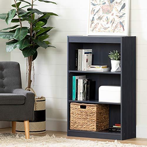 South Shore Axess 3-Shelf Bookcase, Blueberry (Blue Bookshelf Navy)