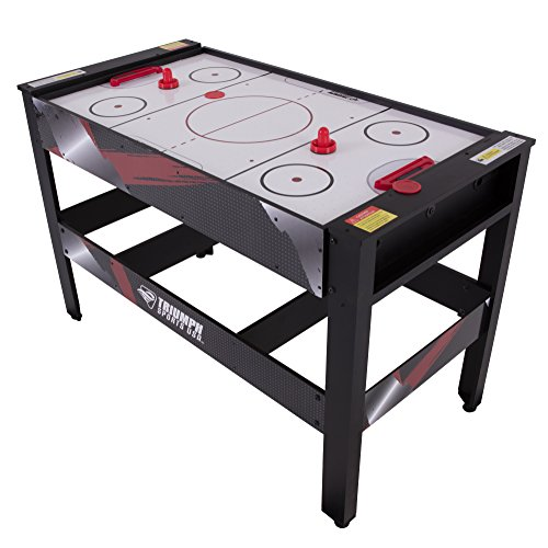 Triumph Pool Table - Triumph 4-in-1 Rotating Swivel Multigame Table – Air Hockey, Billiards, Table Tennis, and Launch Football