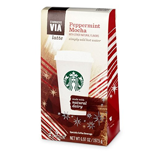 Starbucks Via Peppermint Mocha Latte - 5 Single Serve Packets (Pack of 4)