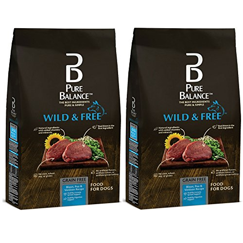 Pure Balance Wild & Free Bison, Pea & Venison Recipe Food for Dogs 24lbs (2 Pack) by Pure Balance