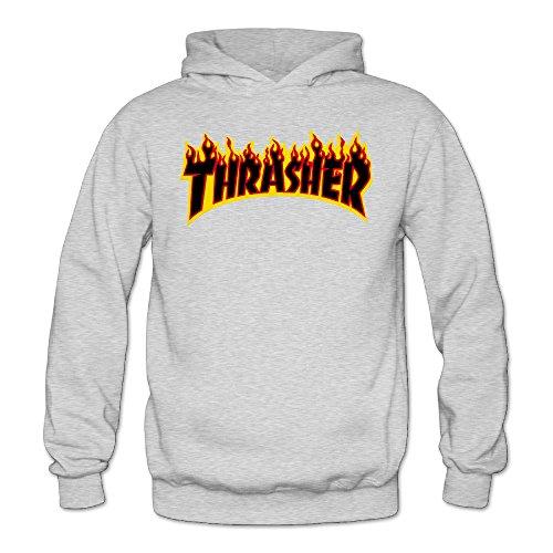 Liying Women's Thrasher Magazine Flame Logo Hooded SweatshirtsLong Sleeve S -