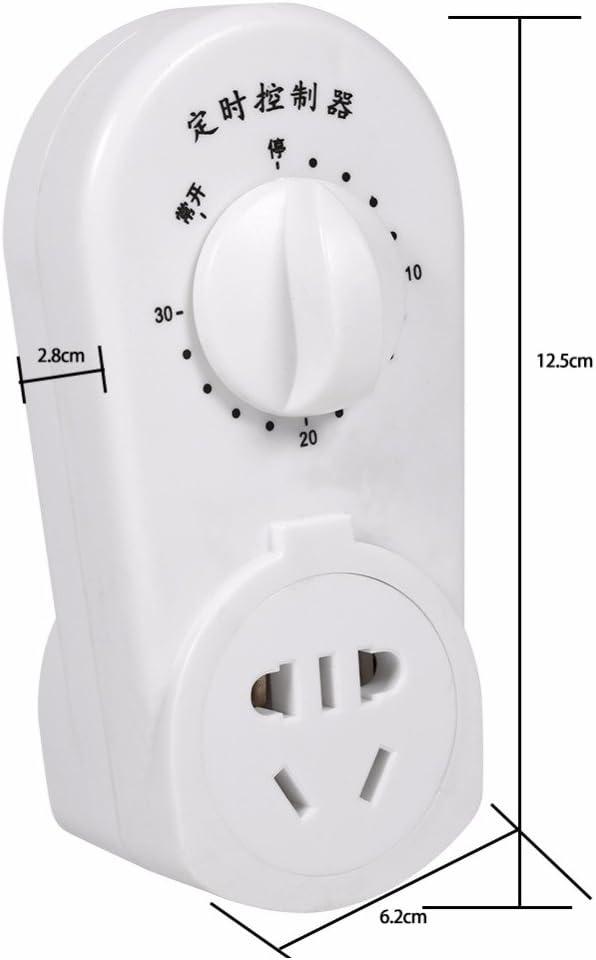 bomba de alto rendimiento 120 minutos interruptor AC 220 V 30//60//120 min Temporizador de cuenta atr/ás temporizador control mec/ánico de cuenta atr/ás temporizador de enchufe