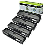 Greencycle Compatible Toner Cartridge Replacement for Samsung 101 MLT-D101S Black Compatible with ML-2161 2166w 2160 2165 2165w SCX-3401 3401FH 3406W 3406HW SCX-3405FW SCX-3400 3405 3405F Printer 4PK