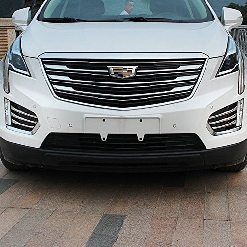 New Chrome Fog Light Moulding Side Air Vent Cover Trims Cadillac XT5 2017 2018