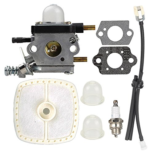 C1U-K54A Carburetor with Air Filter Repower Kit for 2-Cycle Mantis 7222 7222E 7222M 7225 7230 7234 7240 7920 7924 ECHO 12520013123 12520013124 Tiller / Cultivator by Buckbock
