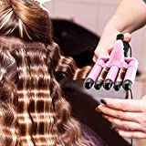 5 Barrel Curling Iron Wand Dual Voltage Hair