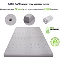 VLAVEN 3 Inch Memory Foam Mattress Topper - CertiPUR-US Certified, Full