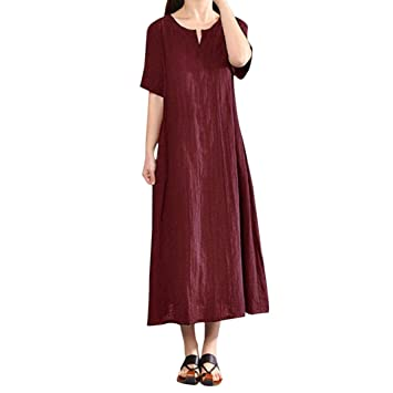 Vestidos largos algodon mujer