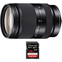 Sony Zoom E-Mount lens 18-200 mm f/3.5-5.6 OSS LE (SEL18200LE) with Sandisk Extreme PRO SDXC 128GB UHS-1 Memory Card