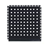 M+A Matting 401 Nitrile Rubber Comfort Flow Modular Side Tile with Holes, 19.12'' Length x 18'' Width x 1/2'' Thick, Black Side Tile