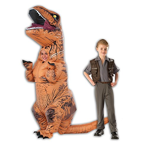 Inflatable Child T Rex And Child Owen Costume Bundle   Small