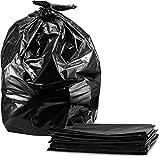 Tasker Trash Bags, For 55 Gallon, Large Black Garbage Bags, 50/Case