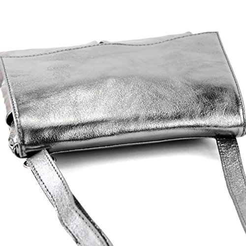 Sac de Farbe à T63 Anthrazit en Nappa Umhänge cuir Metallic nur Präzise bandoulière modamoda Ital Farbe qtdnPx4w11