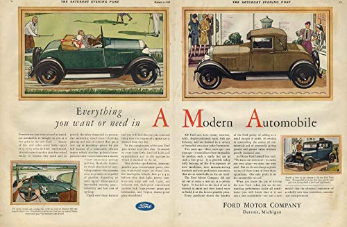 Everything you want & need Ford Model A Roadster & Coupe ad 1928 SEP