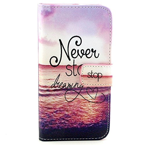 Vogue Shop Synthetic Wallet Kickstand Flip Case with Card Slots and Note Holder with Stand All-around TPU Inner Case Skin Cover for Samsung Galaxy S6 Edge