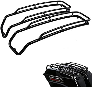 Chrome electra glide Models 1994-2013 street glide ultra road king XMT-MOTO Saddlebags Lid Top Rail Guard fits for Harley Davidson all Touring road glide