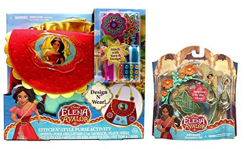 JayBee's Elena of Avalor Costume Accessory Set - Elena of Avalor Style Purse Activity Set for Girls -
