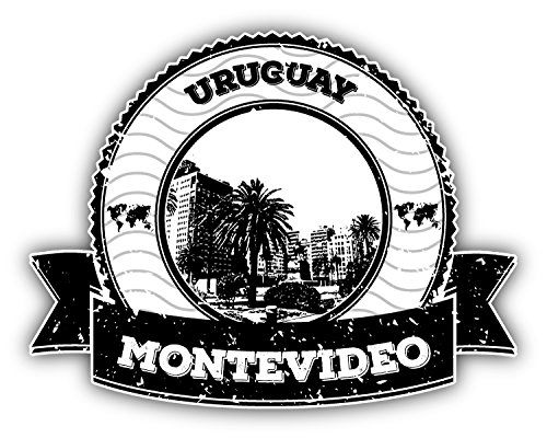 Montevideo Uruguay Grunge Rubber Stamp Travel Home Decal Vinyl Sticker 5