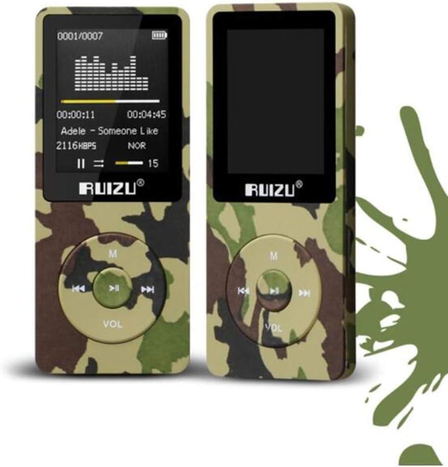 CFZC - Reproductor de música de mp3, 70horas de reproducción,sin pérdidas de sonido, 8GB, hasta 64GB