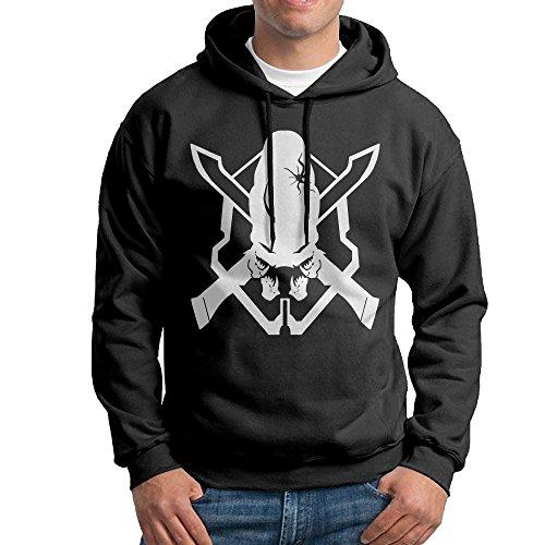 DETO Men's Halo 3 Legendary Hooded Sweatshirt Black Size S