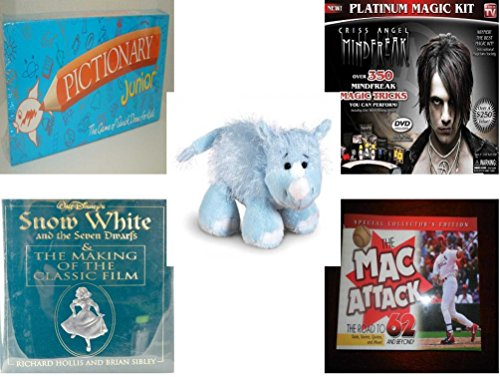 Children's Gift Bundle - Ages 6-12 [5 Piece] - Pictionary Junior The Game of Quick Draw (1999) - Criss Angel Platinum Magic Kit Toy - Webkinz Rhino Plush - Snow White and the Seven Dwarfs & the Maki -  Secure-Order-Marketplace, Ent., dbund-6-12-8380