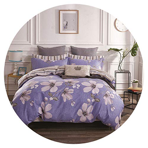 100% Cotton Soft Fabric Twin Queen King Size Bedding Set for Kids Children Adults Bed Set Duvet Cover Bed Sheet Set Pillowcases,Color 2,Queen Size 4pcs