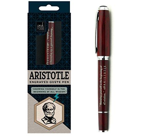 Aristotle Enlightened Quote Pen Beginning product image