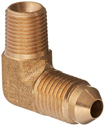 Brennan Industries 2501-04-02-B Brass 90 Degree Elbow Adapter, 7/16