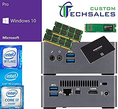 Gigabyte BRIX s Ultra Compact Mini PC (Skylake) BSi7H-6500 i7 250GB SSD, 1TB Solid State Drive (SSD), 32GB RAM, Windows 10 Pro Installed & Configured