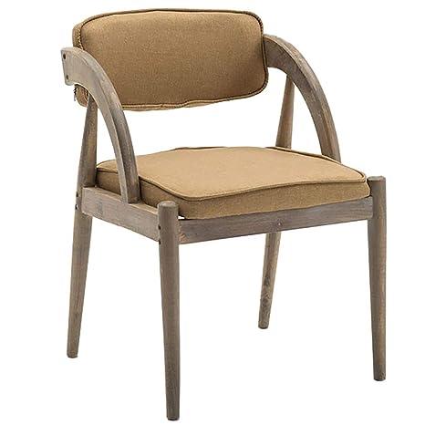 Amazon.com: Sillón de madera maciza, diseño ergonómico, para ...