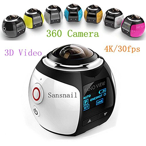 New Released 360 Panoramic Video Camera 4K Resolution @30fps,Creat your 3D Video and images never been so Simple 360 Camera