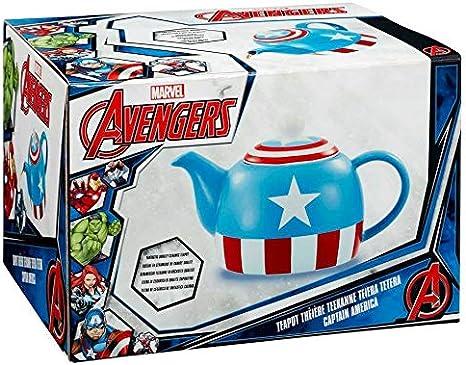 Marvel soy Capit/án Am/érica Tetera Azul
