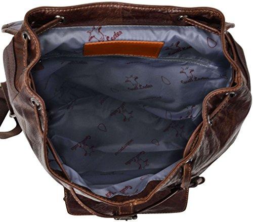 "Gusti Cuir studio ""Nolan"" sac à dos en cuir doublure imperméable sac en cuir cabas besace en cuir sac de voyage vintage en cuir sac à dos loisirs femmes hommes marron 2M23-20-2wp"