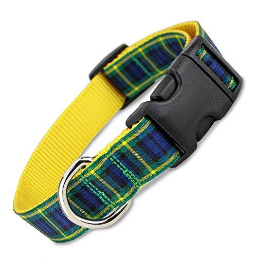 Plaid Dog Collar, Gordon Tartan