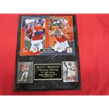 Peyton Manning John Elway Denver Broncos 2 Card Collector Plaque w/NEW LEGACY 8x10 Photo
