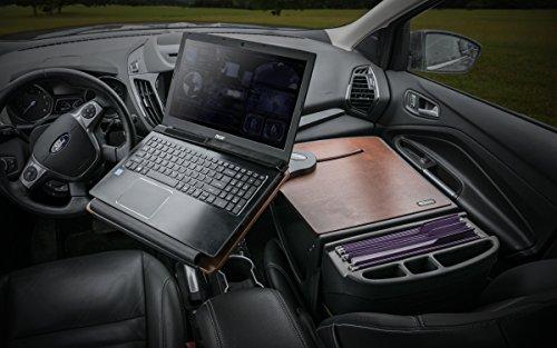 Desk Car Autoexec - AutoExec AUE10016 Reach Front Seat Car Desk Mahogany with