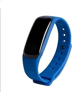 Bracelet à bracelet bracelet Moniteur de fréquence cardiaque intelligent Moniteur de conditionnement physique avec pavé tactile Écran à LED , blue
