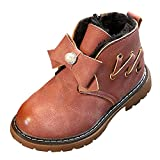 NEEDRA Children Warm Boys Girls Floral Martin Sneaker Boots Kids Baby Casual Shoes (7 UK, Pink IV)
