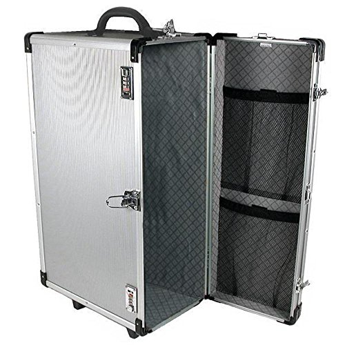 Large Aluminum Jewelry Carrying Rolling Case Handle New