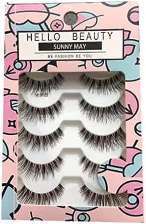 HELLO BEAUTY Multipack Demi Wispies Fake Eyelashes (5Pack)