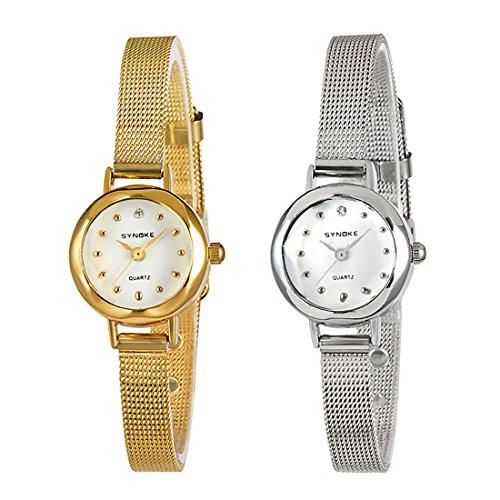 Women Small Strap Slim Mesh Wrist Watch Business Simple Designer Quartz Bangle Watch