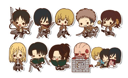 kotobukiya Attack on Titan Rubber Strap Collection BOX
