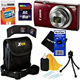Canon PowerShot ELPH 180 Digital Camera w/ Image Stabilization and Smart AUTO Mode (Red) - International Version + 7pc 8GB Accessory Kit w/ HeroFiber Gentle Cleaning Cloth
