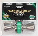 Legend 809003 Legend Passage Lockset, Tulip Knob, Satin Nickel, Adjustable Backset