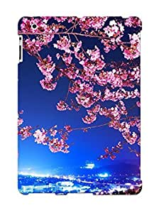 Defender Case For Ipad 2/3/4, Cityscape Under The Cherry Tree Pattern, Nice Case For Lover's Gift